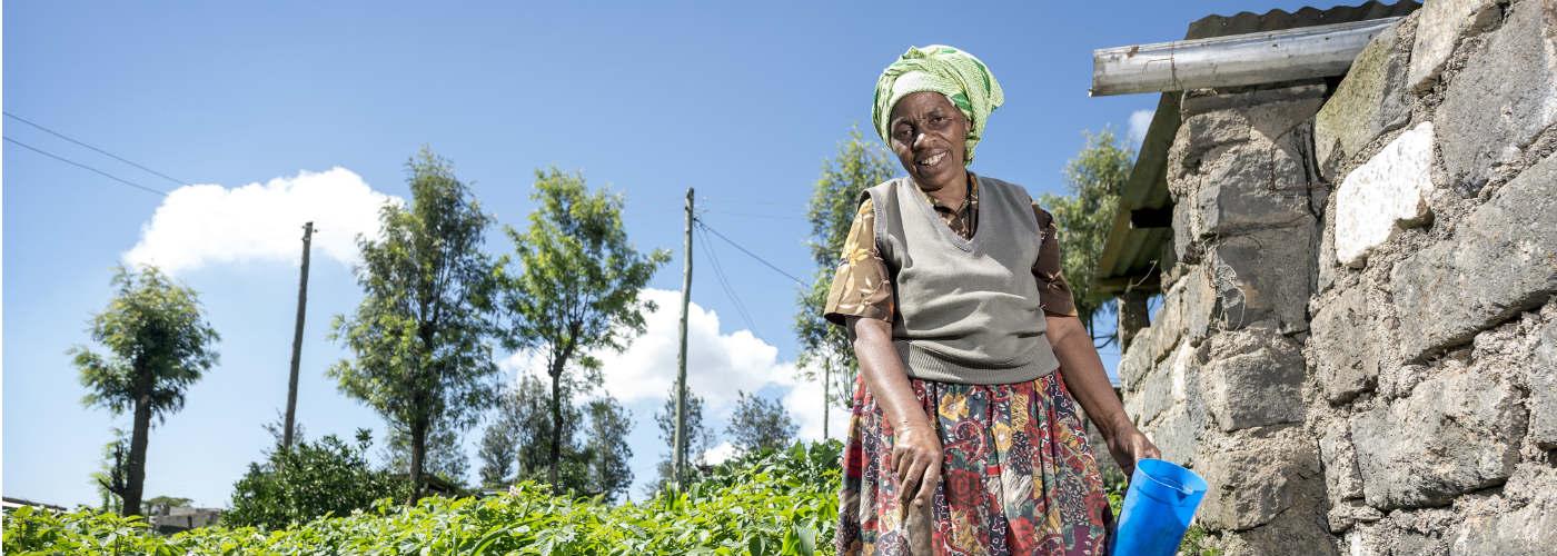 een biogasinstallatie in Kenia